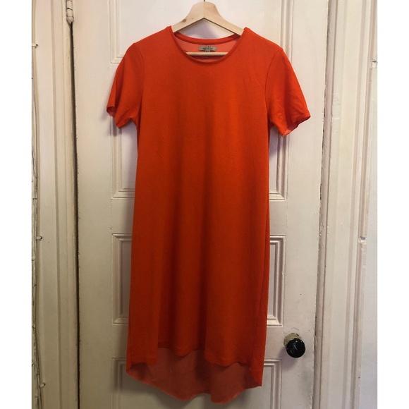 Zara red t-shirt dress Sz M